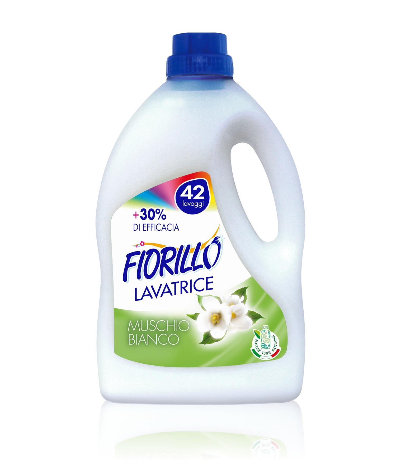 fiorillo detersivo lavatrice muschio bianco 2500 ml
