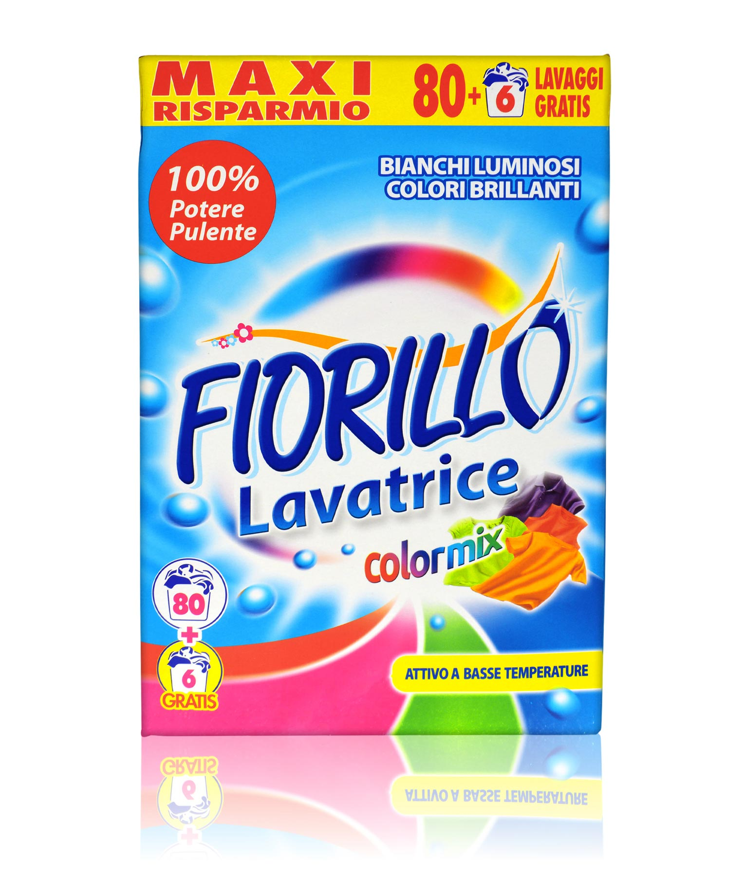 fiorillo detersivo lavatrice polvere colormix 86 lavaggi